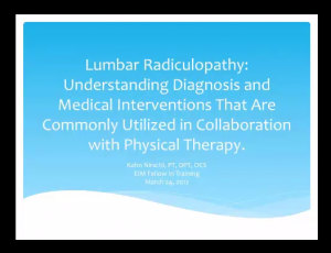 FREE online presentations from Physiopedia for physiotherapy and physical therapy