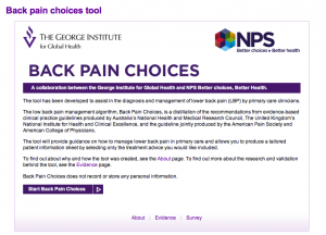 Back Pain Choices