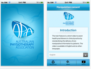 Cervical manipulation consent app for physiotherapy and physical therapy