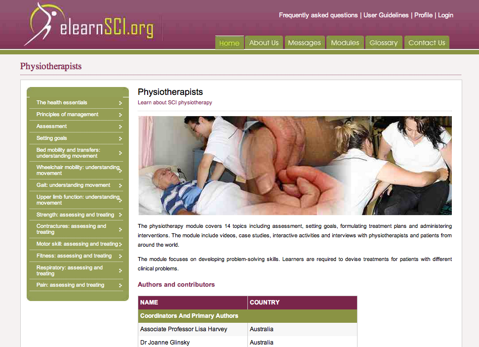 spinal cord injury physiotherapy pdf