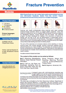 Fracture prevention exercises from PhysioTools