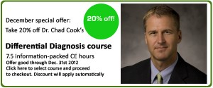 Chad Cook Differential Diagnosis