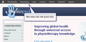 New menu bar