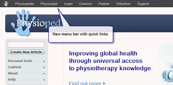 New menu bar and search facilities