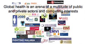 Organisations operating in global health