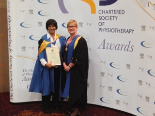Parkinsons specialist given highest honour CSP can bestow