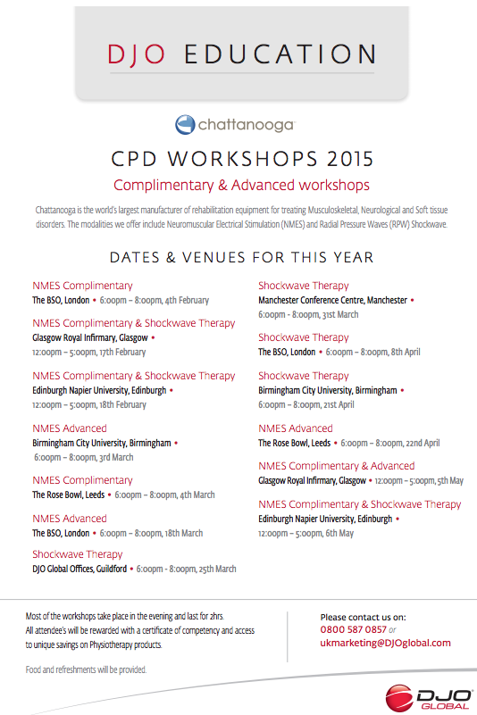 DJO Global workshops 2015