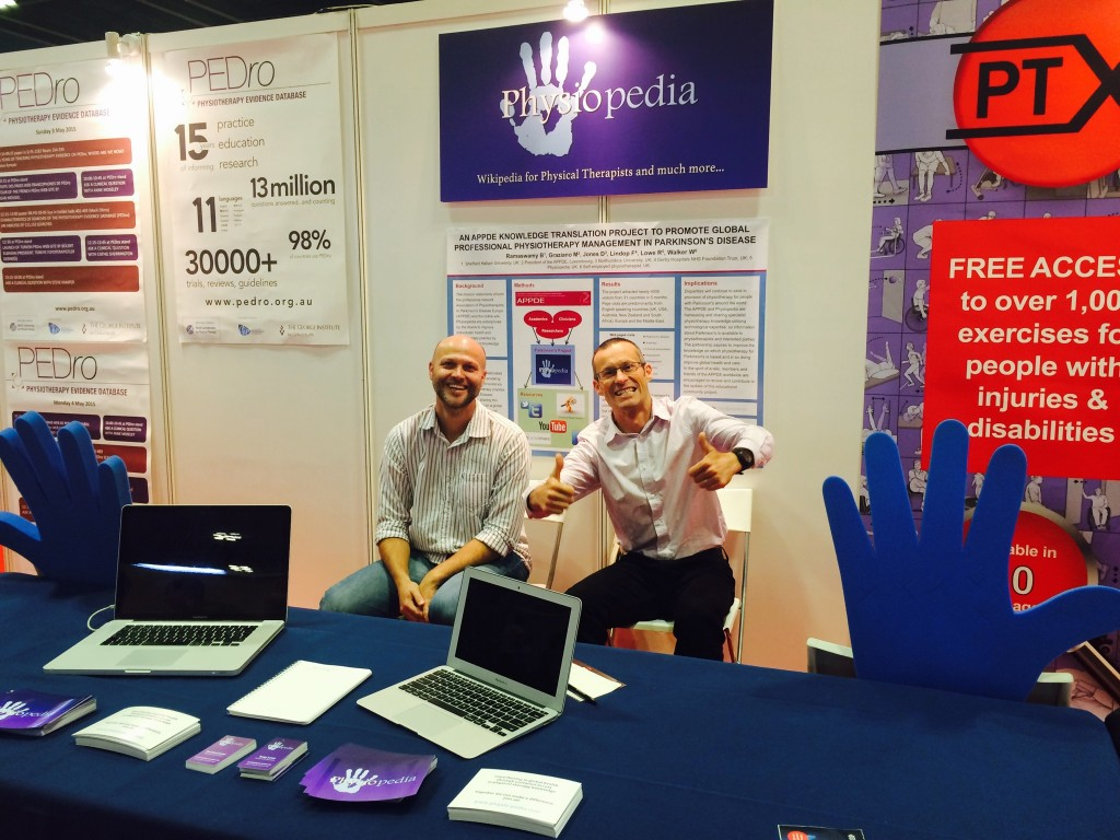 Tony Lowe and Michael Rowe the Physiopedia team at WCPT Congress 2015