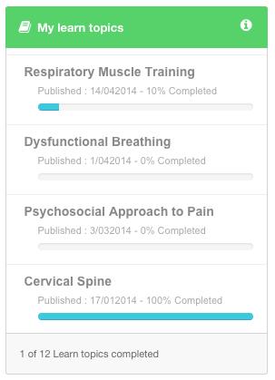 introducing learn topics in Physiopedia