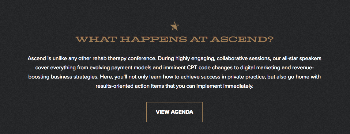 WebPT Ascend conference
