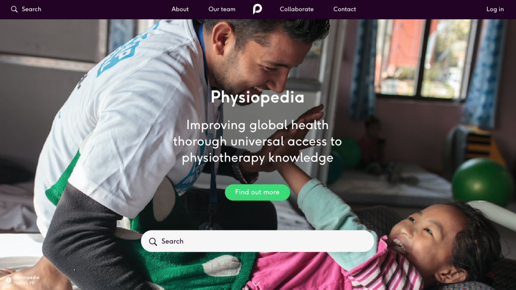new Physiopedia website sneak preview