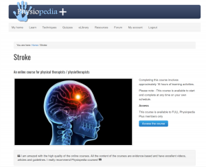 Stroke Content in Physiopedia & PP+