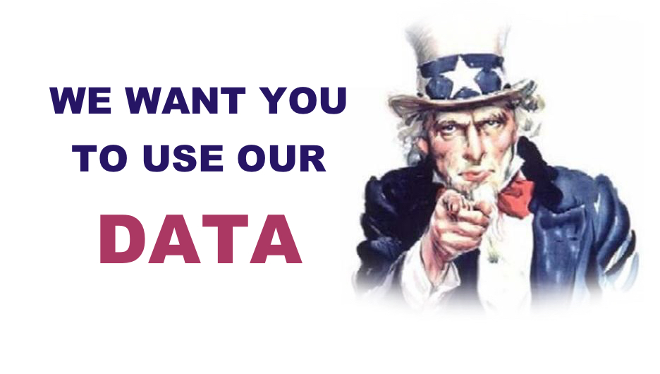 We have masses of data! Please use it to develop our profession.