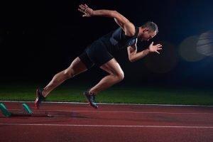 Joint power generation differentiates young and adult sprinters during transition from block start into acceleration
