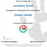 physiopedia plus course completion certificate