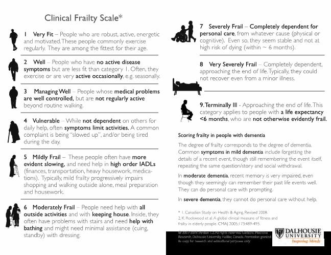 Clinical Frailty Score Rockwood