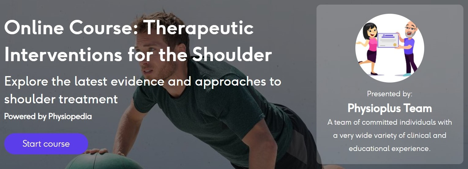 Therapeutic Shoulder Interventions