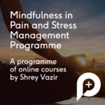 Mindfullness Programme Advert Image with an image of a person meditating in the sunset